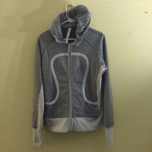 Lululemon gray scuba jacket size 12